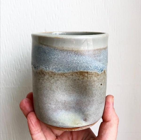 A Small ceramic vase.