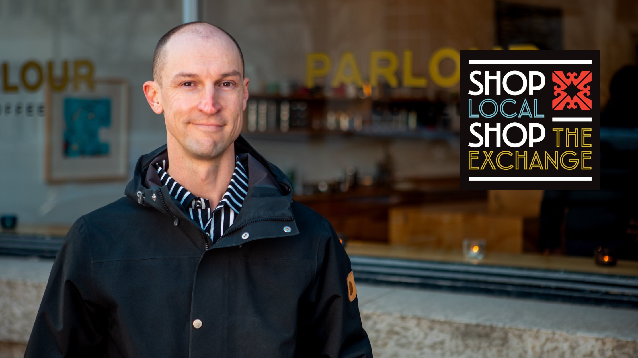 Owner Nils Vik stands in front of Parlour Coffee